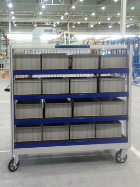 TROLLEYS AND HANDLING MATERIALS<br />Logistic trolley