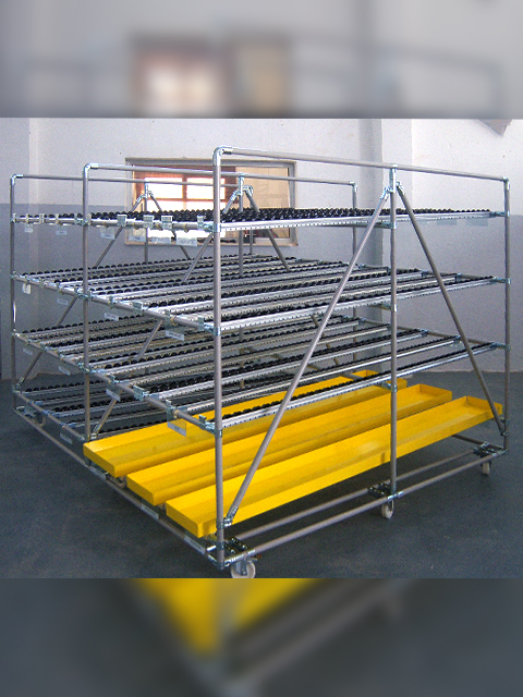 TROLLEYS AND HANDLING MATERIALS<br />Supply rack